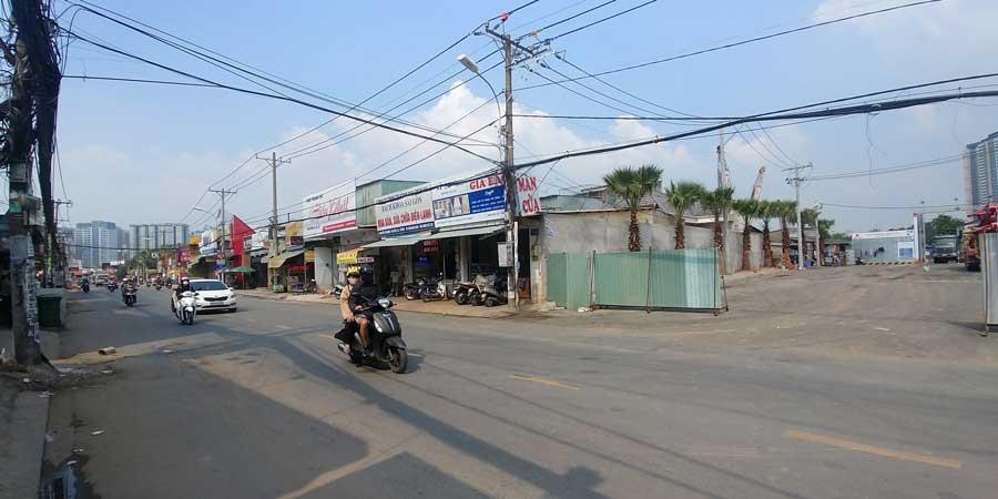 Dự án nằm ngay mặt tiền đường Nguyễn Thị Định