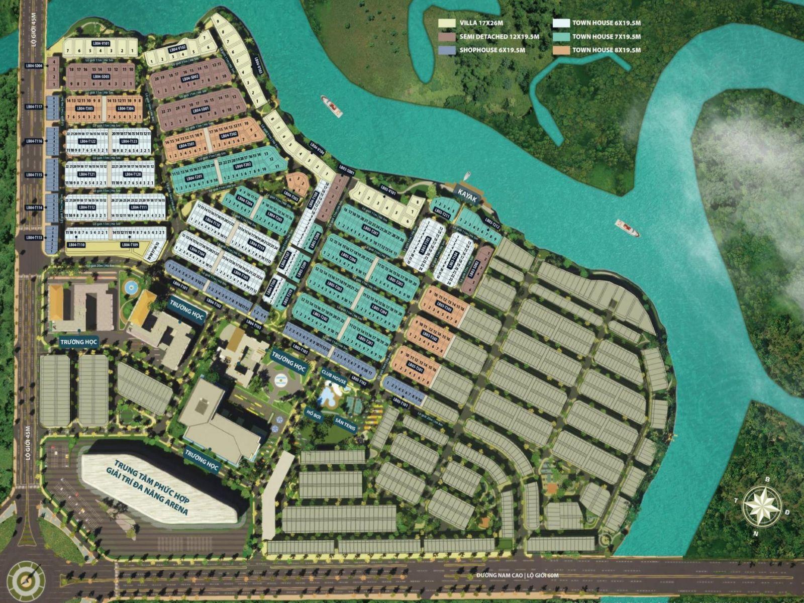 mặt bằng dự án aqua city