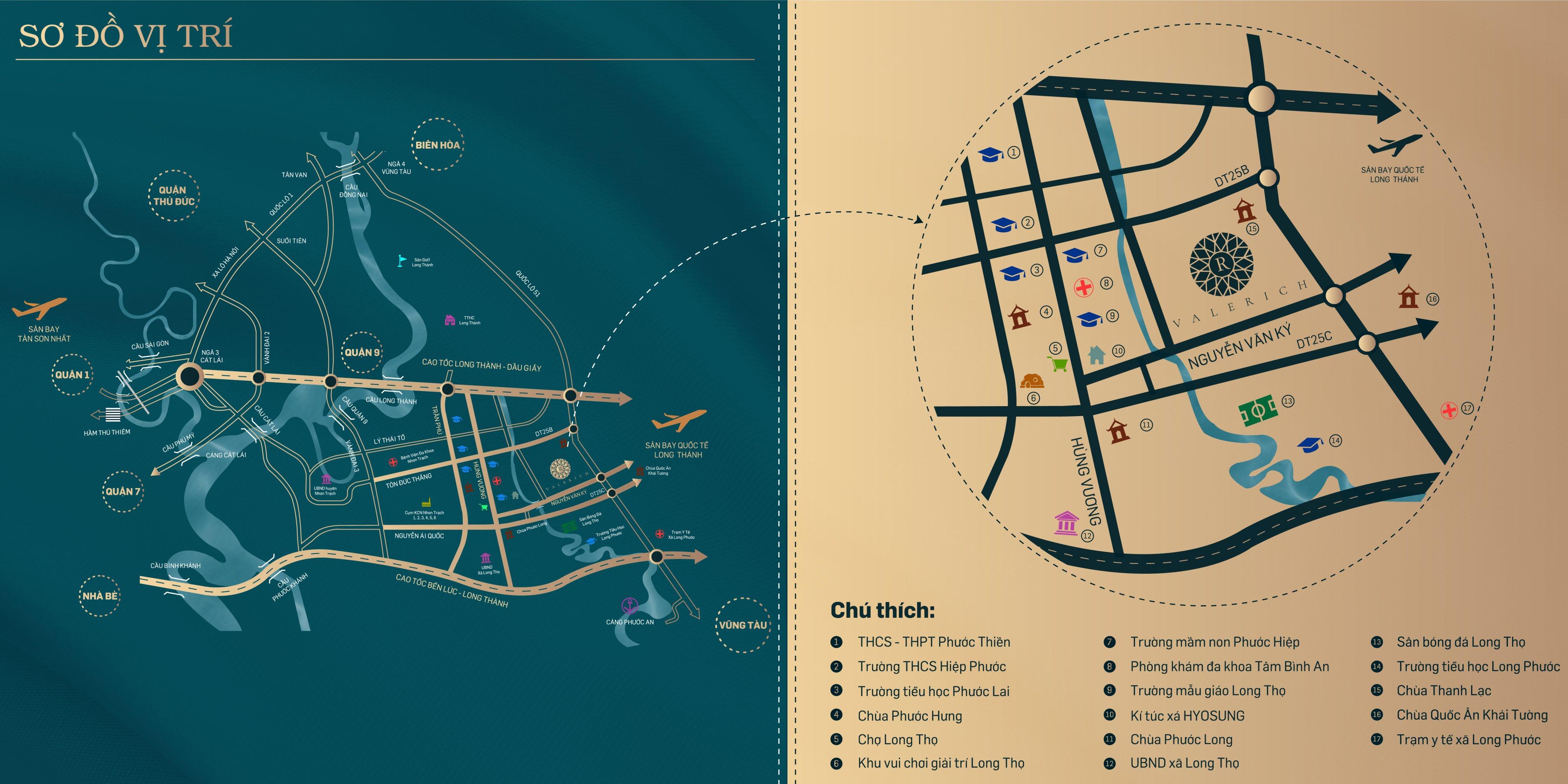 Bản đồ vị trí Valerich